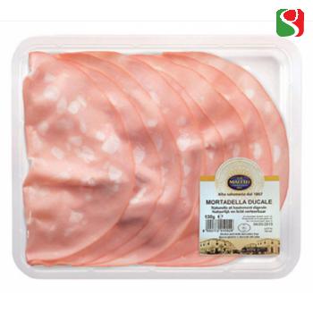 "Вареная колбаса Мортаделла ""La Santo - Bologna IGP"", нарезка, 130 г"