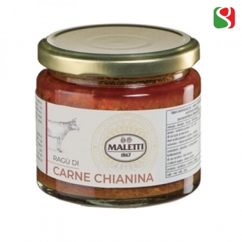 """Chianina"" beef meat (60%) Tuscany Ragù pasta sauce 180 g"