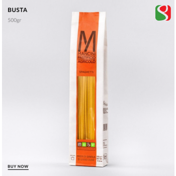 """Spaghetti"" HIGH QUALITY durum wheat ITALIAN pasta from best Italian producer: PASTIFICIO AGRICOLO MANCINI, 500 g"