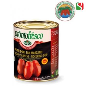 """Маленькие Очищенные Помидоры в собственном соку """"San Marzano DOP"""", 800 г"""