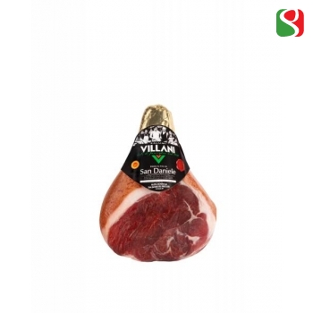 SAN DANIELE HAM BONELESS - The BEST of the BEST!!! The most reworded and sweet Cured ham of Italy in its best expression by VILLANI Salumi Spa. Boneless, vacuumed, around 7,5kg