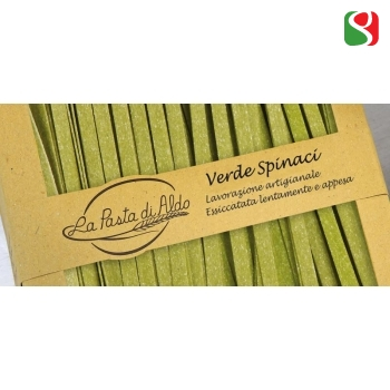 """Tagliatelle"" with Spinach HIGH Quality artigianal egg pasta, 250 g"