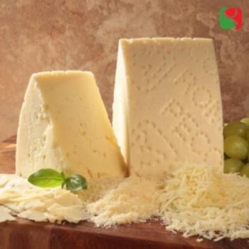 """""""Pecorino Romano"""" sheep milk cheese; in vacuum; weight around 230 g"""