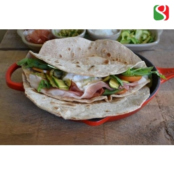 "Thin ""PIADINA ROMAGNOLA"" flat bread with extra virgin olive oil - 3 pcs = 360 g"