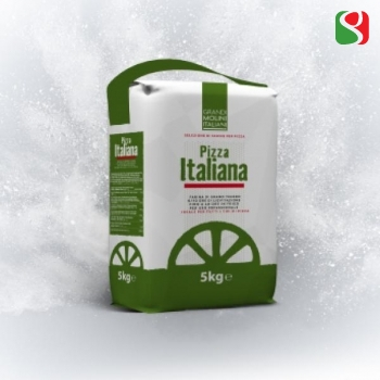 """""""Pizza Italiana"""" 00 Pizza Flour for Real Italian Pizzas 5 kg - pizzas' yesting time: 2-10 hours at room temperature"""