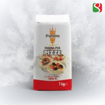 """Frumenta for PIZZA"" 00 Pizza Flour 1 kg - pizzas' yesting time: 2-6 hours at room temperature"