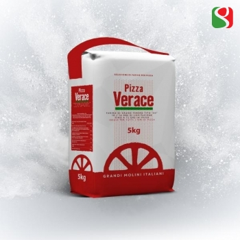 """Pizza Verace"" 00 Pizza Flour W300, the best flour for a real ""pizza Napoletana"" - 5 kg - pizzas' leavening time up to 72 hours"