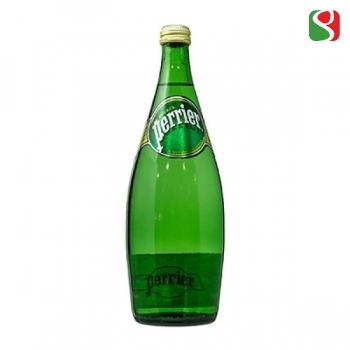 """Вода минеральная газированная """"Perreir"""", 750мл, стеклянная бутылка"""