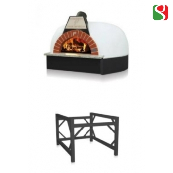 """Professional Wood Oven for real pizza NAPOLETANA """"Igloo 100"""", 4/5 pizzas at a time + metal base - oven 150,7 x 150,7 x h.105,4 cm + base 100 x 100 x h.80,7 cm - Net Weight: 1400 Kg"""