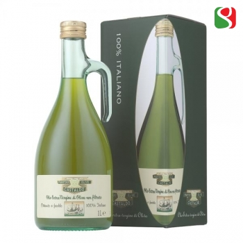 "Rich, Tasty, NOT FILTERED Extra Virgin Olive oil , 100% Italian, cold mechanical pressing ""GREZZO"" - 1lt ""Tusca"" bottle"
