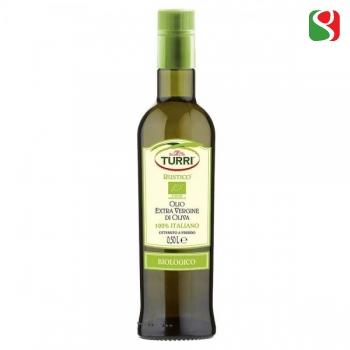 "Elegant, Mild, BIOLOGICAL Extra Virgin olive oil, 100% ITALIAN, cold mechanical pressing ""RUSTICO"" - 500ml"
