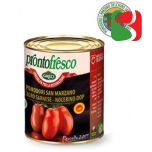 "Peeled Tomatoes ""San Marzano DOP"" HIGH QUALITY, SWEET Peeled Tomatoes from Napoli region -  100% Italian tomatoes - 800g"