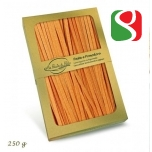 """Tagliatelle al Pomodoro"" TOMATO FLAVOURED HIGH Quality artigianal egg pasta, 250 g"