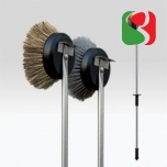Oven brush, natural bristles, 160 cm - High Quality for Professionals
