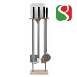 FLOOR support for shovels and brush, 165 cm tall, marble basement - RIGHT HAND - High Quality for Professionals