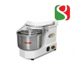 spiral kneaders to make pizza dough, 20 kg - 100-230 rpm SPEED + reverse rotation, wheels, timer, light - dimensions: 400mm (width) x 630mm (length) x 550mm (height); 230/50 V/Hz, power 1,1 Hp, weight of mix 20 Kg, volume of mix 25 Lt, weight of the machi