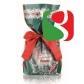 """Pikk küpsetatud traditsiooniline jõulukook """"Panettone"""", mis on ümbritsetud jõulupaberiga - 1 kg"""