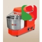 spiral kneaders to make pizza dough, 15kg - 100-230 rpm SPEED + reverse rotation - dimensions: 340mm (width) x 500mm (length) x 450mm (height); 230/50 V/Hz, power 1 Hp, weight of mix 17 Kg, volume of mix 18 Lt, weight of the machine 37 Kg