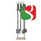 НАПОЛЬНАЯ подставка для лопат и щёток высотой 165 см, подвал из мрамора - правая сторона - высокое качество для профессионалов
